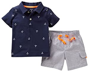 Carters Baby Boy Anchor Polo & Short Set from Carters