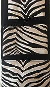 3 Piece Bath Towel Set- Black White Z…