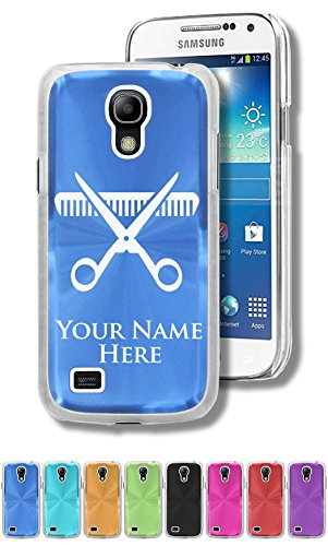 Personalized Case/Cover for Samsung Galaxy S4 Mini - SCISSORS AND COMB - Engraved for FREE