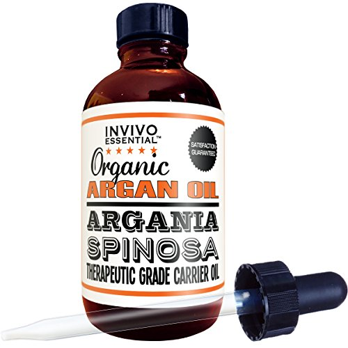 Organic Argan Oil Premium Therapeutic Grade 4 Ounce Liquid Carrier Oil For Aromatherapy Relaxing Massage and Diluting Essential Oils With Free Dropper