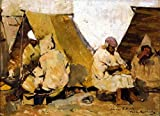 Art Prints On Canvas (12 X 9 Inch): Arab Cobblers (Also Known As Fondak In Tangiers) By Theo Van Rysselberghe (Ac 46927 1209)