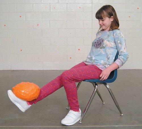 Sportime Yuk-E-Ball Medicine Ball - 8.8 Lbs (4 Kg) - 8 1/2 Inch Diameter - Orange front-1070984
