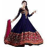 AIKA Dark Blue Pure Georgette Salwar Kameez