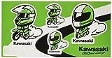 KAWASAKI (カワサキ純正アクセサリー) カワサキヘルメットレーサーステッカー J70100148