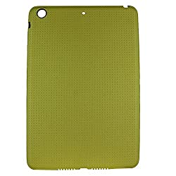 Heartly New Retro Dotted Design Hole Soft TPU Matte Bumper Back Case Cover For Apple iPad Mini 3 3rd Generation Tablet - Sweet Yellow