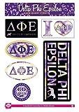 Delta Phi Epsilon Sticker Sheet - Tie Dye Theme. 8.5