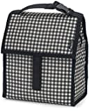 PackIt Freezable Lunch Bag with Zip Closure, Gingham