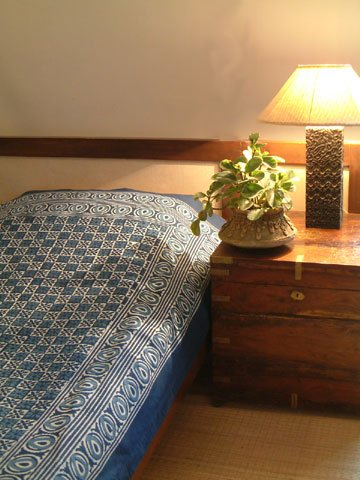 Starry Nights ~ Designer Blue Batik Contemporary Queen Bedspread 90X90 front-570817