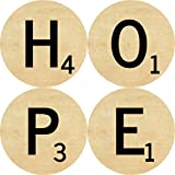 Clixicle Customized Scrabble Round Coasters, Set Of 4