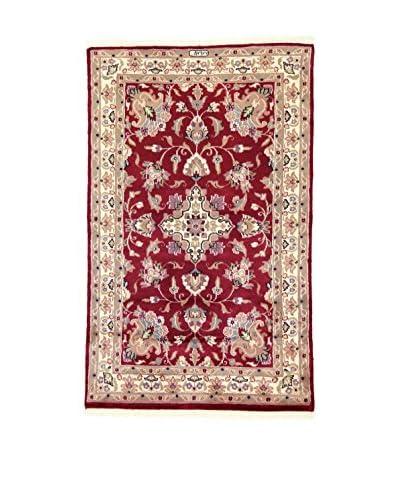 L'Eden del Tappeto Alfombra Kashmirian F/Seta Rojo / Beige 148t x t92 cm