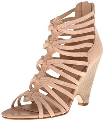 Belle by Sigerson Morrison Women's Annie2 Gladiator Sandal,Leather/Suede Nude/Apricot,7 M US