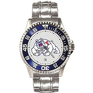 Fresno State Bulldogs Competitor Watch with a Metal Band by SunTime