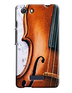 Blue Throat Violin Strings Printed Designer Back Cover/Case For Micromax Unite3 (Q372)