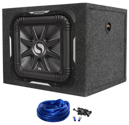 "Package: Kicker 11S15L7-2 15"" Subwoofer + Rockville Rks15 15"" Sealed Subwoofer Enclosure + Sub Enclosure Wire Kit With 14 Gauge Speaker Wire + Screws + Spade Terminals"