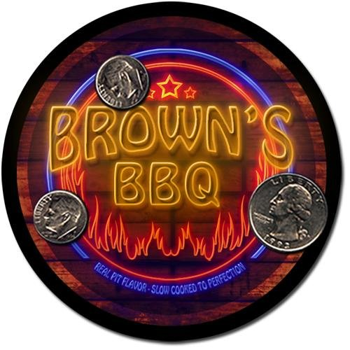 Brown'S Barbeque Drink Coasters - 4 Pack