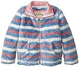 Hatley Little Girls  Fuzzy Fleece Jacket - Winter Stripes