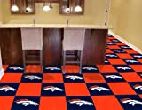 "Team Fan Gear Fanmats Denver Broncos Carpet Tiles 18""x18"" tiles NFL-8567 at Amazon.com"