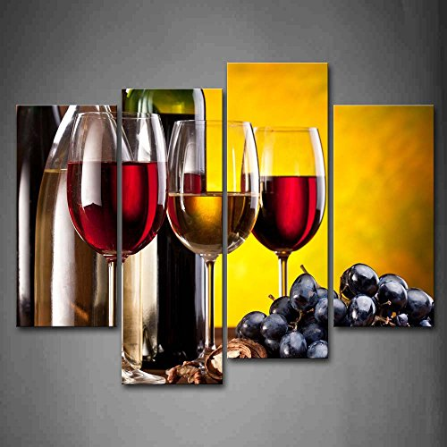 Grape Wine With Cup Wall Art Painting The Picture Print On Canvas Food Pictures For Home Decor Decoration Gift (Food And Beverage Wall Art compare prices)