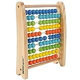 Infantastic - Ábaco de madera con 100 perlas coloridas - ideal para niños - peso: aprox. 570 g