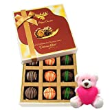 Valentine Chocholik Premium Gifts - Nice Combination Of Truffles With Teddy