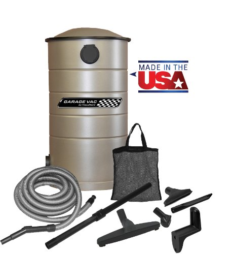 VacuMaid GV30 Wall Mounted Garage Utility Vacuum with 30 foot Hose and Blow Function