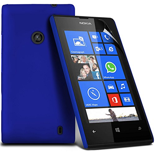 ( Blue ) Nokia Lumia 530 Premium Hybrid Hard Back Shell Skin Case Cover With Lcd Screen Protector Guard By Fone-Case