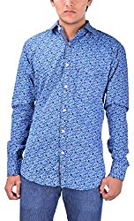Kriva Enterprise Men's Casual Shirt (Kriva4_XXL, Blue, XXL)