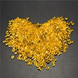 1000pcs 4.5mm Table Crystal Diamond Acrylic Crystals Diamonds Wedding Party Decoration-Gold