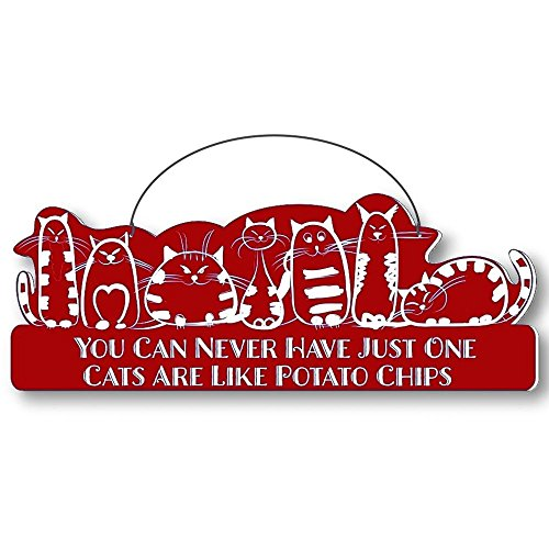 Cool Cats Cat-Gang Shaped Laser-Etched 3-In-1 Plaques Ver1 Like Potato Chips Red front-226537