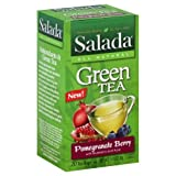 Salada All Natural Green Tea, Pomegranate Berry with Blueberry and Acai, 20 teabags, 1.41 oz.  (Pack of 6)