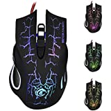 Wired Mouse Welcomeuni 5500 DPI 6D LED Optical USB Wired PRO Game Mouse For PC Laptop Gaming - B01F6ZI3OS