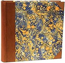 il Torchio - Album foto con box, copertina in pelle e carta marmorizzata a mano
