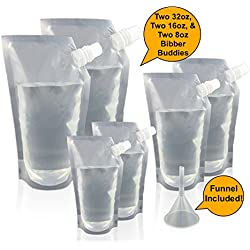 Bibber Buddy Plastic Concealable Flasks - The Ultimate Cruise Kit - Hidden Alcohol Flasks for Cruise Ships, Camping, Road Trips, Resorts, and More! Smuggle Booze Anywhere! Great Travel Flask!