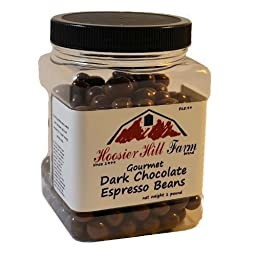 Hoosier Hill Farm Gourmet Dark Chocolate covered Espresso Beans (1 lb Jar)