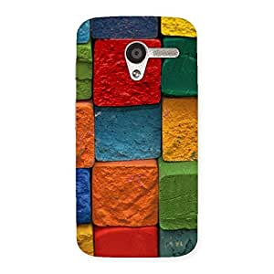 Enticing Color Cubes Multicolor Back Case Cover for Moto X
