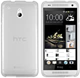 mumbi Schutzhülle HTC One mini Hülle transparent weiss