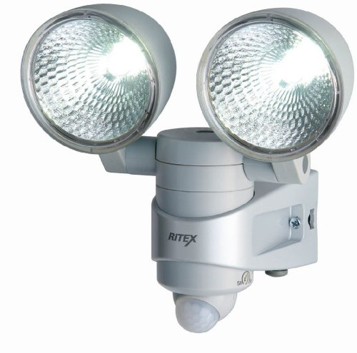 Musashi Ritex 7w × 2 LED Sensor Light 'Ac Power Supply Type' Rainproof Type Led-ac214