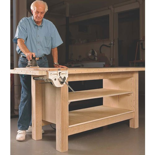Fine Woodworking 11208 Plywood Workbench Plan