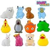 #9: Kids Choice Chu chu Bath toys Set of 12, Multi-color