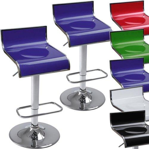 Miadomodo Sgabello Bar Coppia o singolo colore a scelta (Blu, 2)