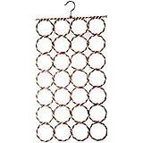 28-hole Ring Rope Slots Holder Hook Scarf Wraps Shawl Storage Hanger Organizer