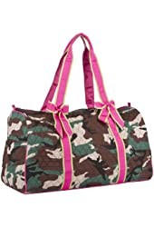 Ever Moda Designer Print Collection 21-inch Quilted Duffle Bag