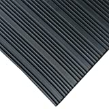 Composite Rib Corrugated Rubber Floor Mats - 3 MM thick x 3 FT Wide Rolls
