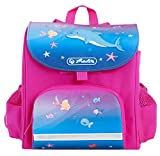 HERLITZ Kinderrucksack MINI SOFTBAG Kindergartenrucksack + Eisbär Willy (Little Dolphin 17)