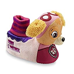 Nickelodeon Toddler Girl\'s PAW Patrol Pink Skye Slippers (5/6 Small)