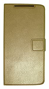 Zocardo Faux Leather Flip Case Flip Diary Cover For Oppo Neo 5 -Gold With Stand Magnetic Lock