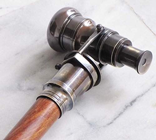 Vintage Armour Store Nautical Collectible Antique Finish Brass Telescope Spyglass Walking Stick Cane