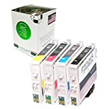 Green Park Products Remanufactured Ink Cartridge Replacement For EPSON T125 (T125120) (Black Cyan Magenta Yellow...