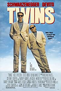 Twins Movie Poster (11 x 17 Inches - 28cm x 44cm) (1988) Style B -(Arnold Schwarzenegger)(Danny DeVito)(Kelly Preston)(Hugh O'Brian)(Chloe Webb)(Bonnie Bartlett)