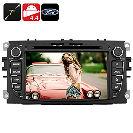 Autoradio DVD Android 4.4 - Écran tactile 7 pouces / CPU Quad Core / 2 DIN / GPS / Bluetooth / Wi-Fi / 3G / Pour Ford*